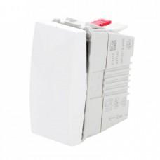 electrice harghita - intrerupator simplu schneider unica, incastrat, modular, alb - schneider - mgu3.101.18