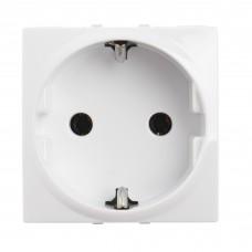 electrice harghita - priza schuko schneider unica, incastrata, modulara, 2m, alba - schneider - mgu3.036.18