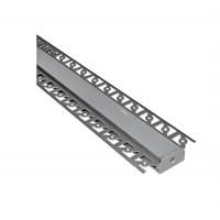 Profil aluminiu banda LED, ingropat, lat, pentru rigips, 2m