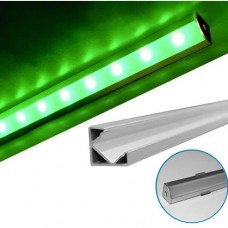 electrice harghita - profil aluminiu,pentru banda led, aparent, de colt, 2m - lumen - 05-30-05702