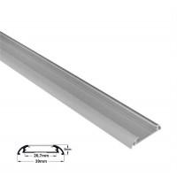 Profil aluminiu,pentru banda LED, aparent, OVAL, lat, 1m