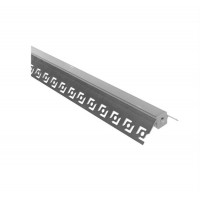 Profil banda LED, unghi deschis, incastrat, 2m