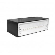 electrice harghita - spot led, incastrat, dreptunghiular, 0,8 w, 12 leduri, lumina rece, 145x45 mm, ip 54 - lumen - 00-9811/rece