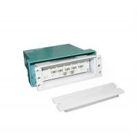 Spot LED, incastrat, dreptunghiular, 0,8 W, 12 leduri, lumina rece, 96 mm, alb, IP 54