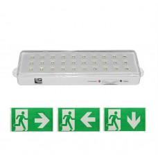 Lampa de emergenta / siguranta, permanent, 30 leduri, 180 lm, baterie Li-ion 3,7 V, 2000 mAh