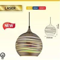Pendul sticla, 3D, LASER, E27, 240X220 mm