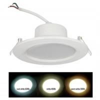Spot LED SMD, incastrat, rotund, 12W, 960 lm, 4000k, 121 mm, alb, IP 54