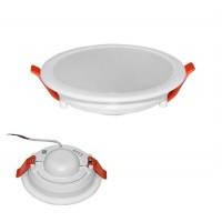 Spot LED SMD, incastrat, slim, rotund, 10W, 850 lm, 4000k, 118 mm, alb, IP 20